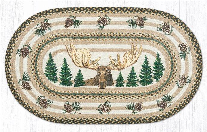 "Bull Moose Oval Braided Rug 27""x45"" Thumbnail"