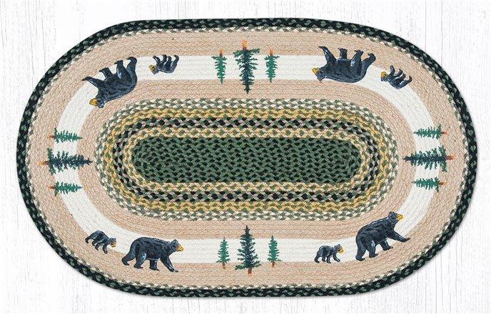 "Bear Timbers Oval Braided Rug 27""x45"" Thumbnail"