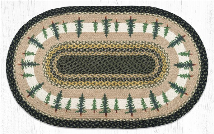 """Tall Timbers Oval Braided Rug 27""""x45"""" Thumbnail"""
