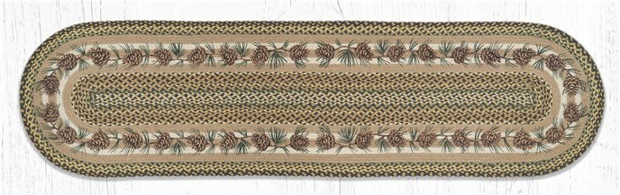 Needles & Cones Oval Braided Rug 2'x8' Thumbnail