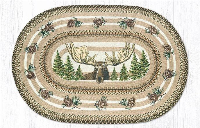 Bull Moose Oval Braided Rug 4'x6' Thumbnail
