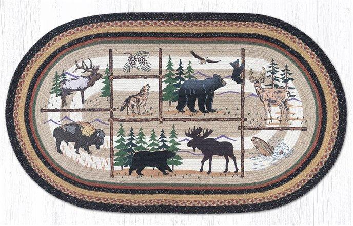 Lodge Animals Oval Braided Rug 4'x6' Thumbnail