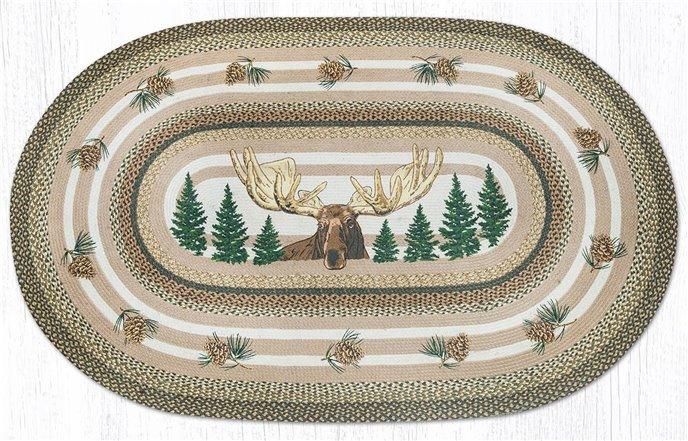 Bull Moose Oval Braided Rug 5'x8' Thumbnail