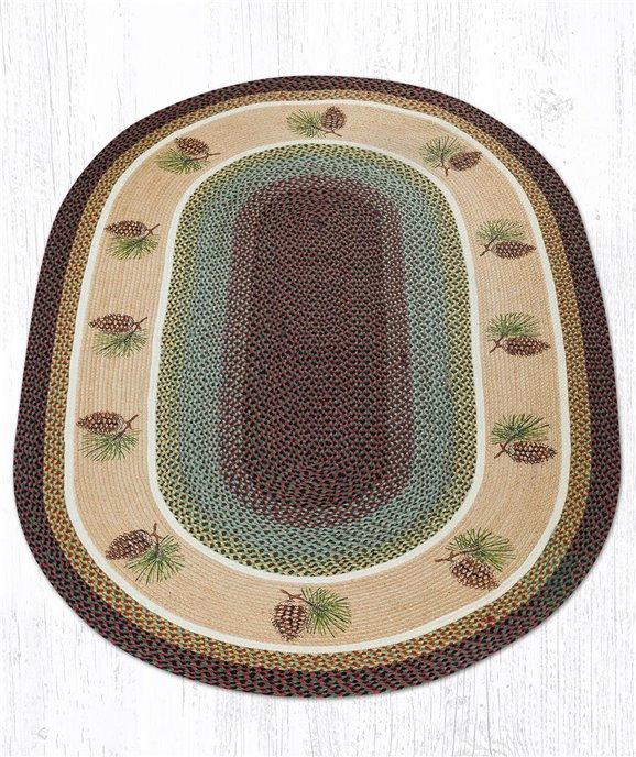 Pinecone Oval Braided Rug 5'x8' Thumbnail