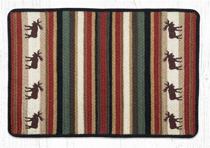 """Moose Rectangular Braided Rug 20""""x30"""" Thumbnail"""