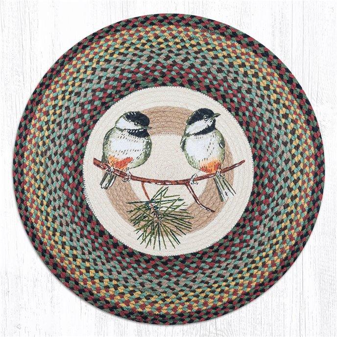 """Chickadee Round Braided Rug 27""""x27"""" Thumbnail"""