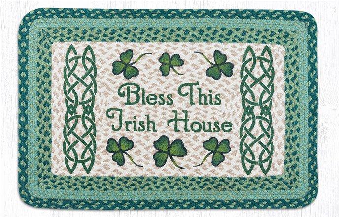 "Bless This Irish House Rectangular Braided Rug 20""x30"" Thumbnail"