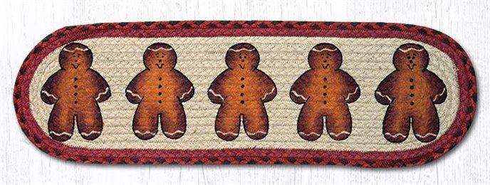 "Gingerbread Men Oval Braided Stair Tread 27""x8.25"" Thumbnail"