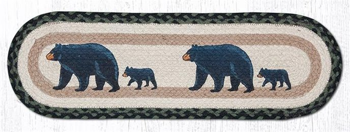 "Mama & Baby Bear Oval Braided Stair Tread 27""x8.25"" Thumbnail"