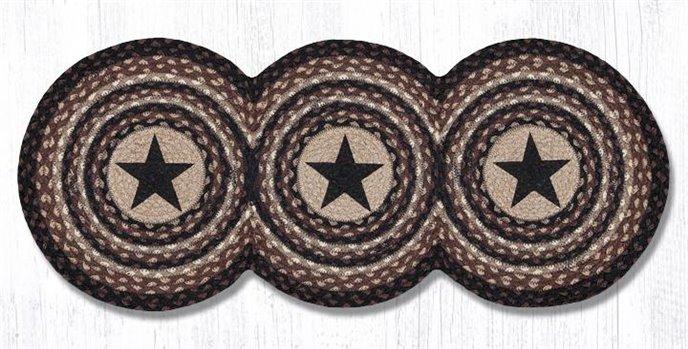 "Black Stars Printed Tri Circle Runner 15""x36"" Thumbnail"