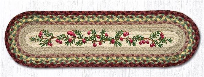 "Cranberries Oval Braided Stair Tread 27""x8.25"" Thumbnail"