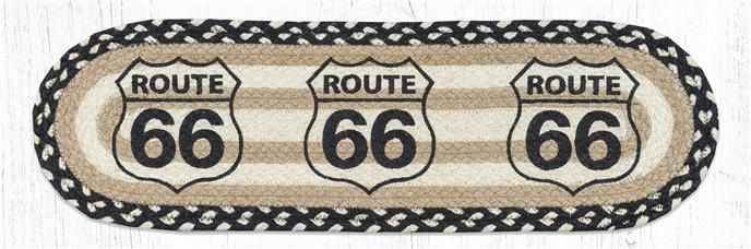 "Route 66 Oval Braided Stair Tread 27""x8.25"" Thumbnail"