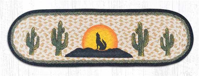 """Coyote Silhouette Oval Braided Stair Tread 27""""x8.25"""" Thumbnail"""