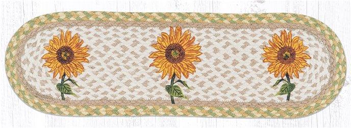 "Sunflower Oval Braided Stair Tread 27""x8.25"" Thumbnail"