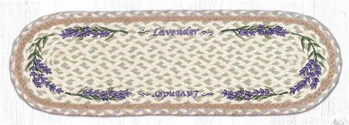 "Lavender Oval Braided Stair Tread 27""x8.25"" Thumbnail"