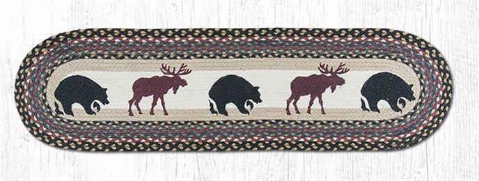 "Bear/Moose Oval Braided Runner 13""x48"" Thumbnail"
