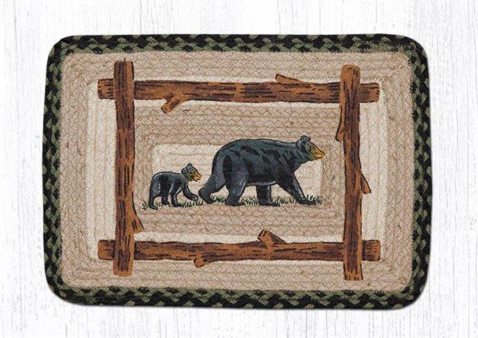 "Mama & Baby Bear Rectangular Printed Braided Table Runner 13""x36"" Thumbnail"