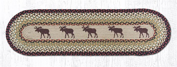 "Moose Oval Braided Runner 13""x48"" Thumbnail"