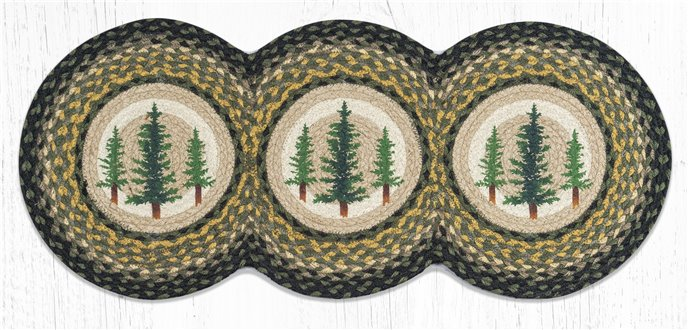 "Tall Timbers Printed Braided Tri Circle Runner 15""x36"" Thumbnail"