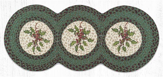 "Holly Printed Braided Tri Circle Runner 15""x36"" Thumbnail"
