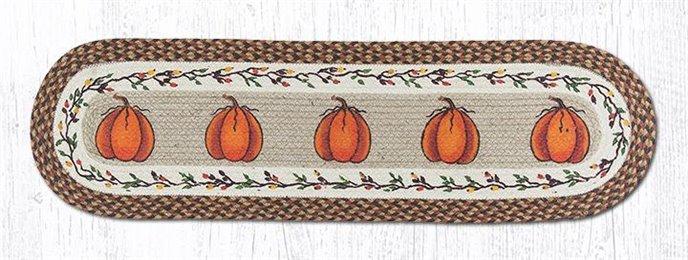 "Harvest Pumpkin Oval Braided Runner 13""x48"" Thumbnail"