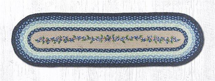 """Blueberry Vine Oval Braided Runner 13""""x48"""" Thumbnail"""
