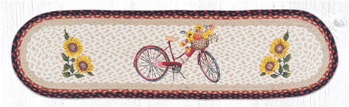 """Red Bicycle Oval Braided Runner 13""""x48"""" Thumbnail"""