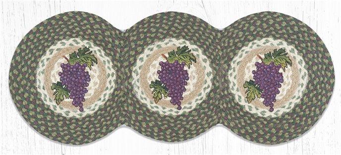 "Grapes Printed Braided Tri Circle Runner 15""x36"" Thumbnail"