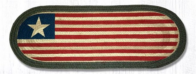 "Original Flag Oval Braided Table Runner 13""x36"" Thumbnail"