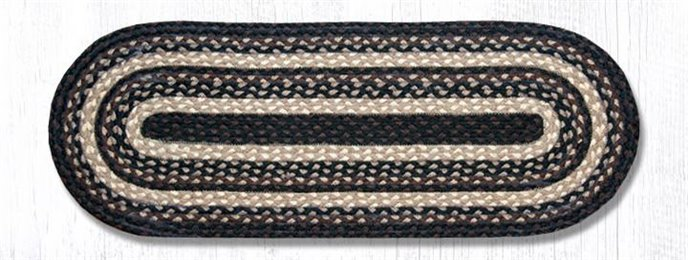"Mocha/Frappuccino Jute Braided Table Runner 13""x36"" Thumbnail"