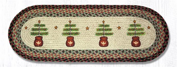 "Feather Tree Oval Braided Table Runner 13""x36"" Thumbnail"