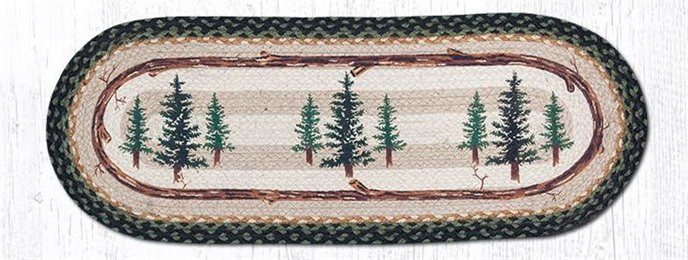 "Tall Timbers Oval Braided Table Runner 13""x36"" Thumbnail"