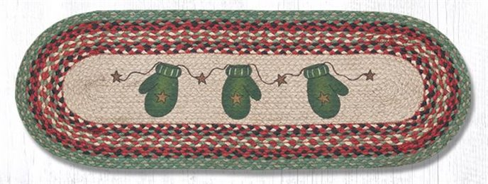 "Mittens Oval Braided Table Runner 13""x36"" Thumbnail"