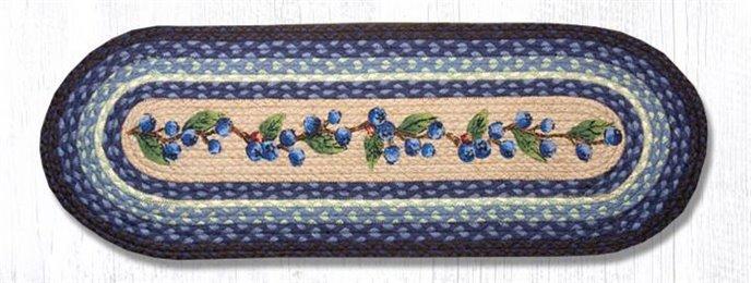 """Blueberry Vine Oval Braided Table Runner 13""""x36"""" Thumbnail"""