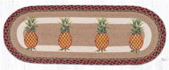 "Pineapple Oval Braided Table Runner 13""x36"" Thumbnail"