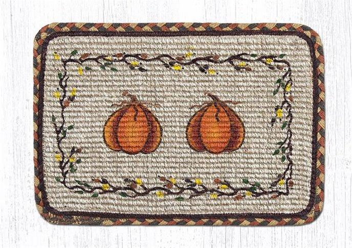 "Harvest Pumpkin Wicker Weave Braided Table Runner 13""x36"" Thumbnail"