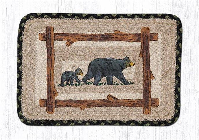 "Mama & Baby Bear Square Printed Braided Trivet 10""x10"" Thumbnail"