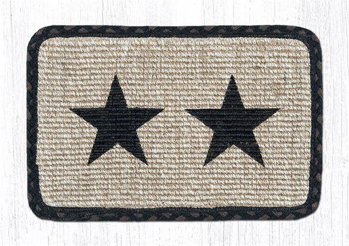 """Black Star Wicker Weave Braided Table Runner 13""""x36"""" Thumbnail"""