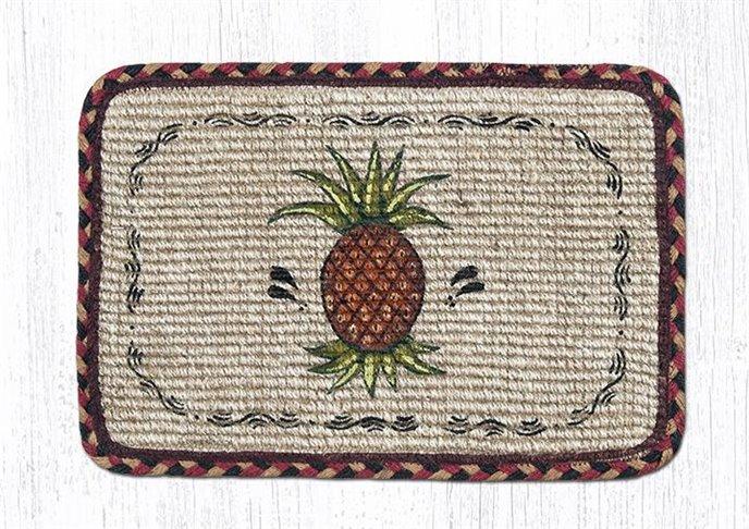 "Pineapple Wicker Weave Braided Table Runner 13""x36"" Thumbnail"