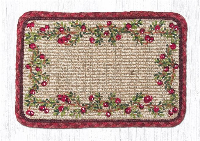 """Cranberries Wicker Weave Braided Table Runner 13""""x36"""" Thumbnail"""