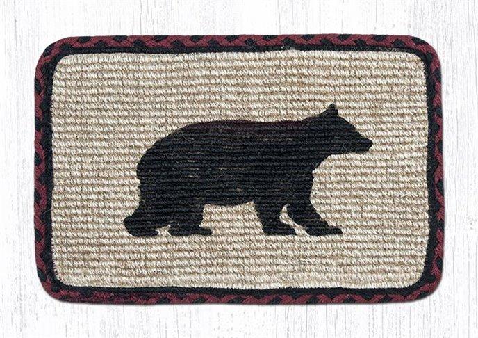"Cabin Bear Wicker Weave Braided Table Runner 13""x36"" Thumbnail"
