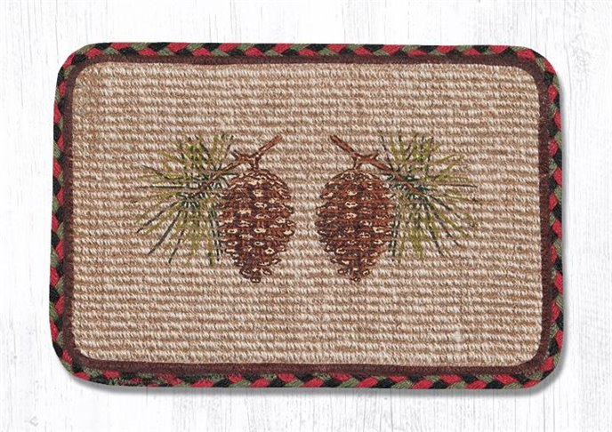 """Pinecone Wicker Weave Braided Table Runner 13""""x36"""" Thumbnail"""