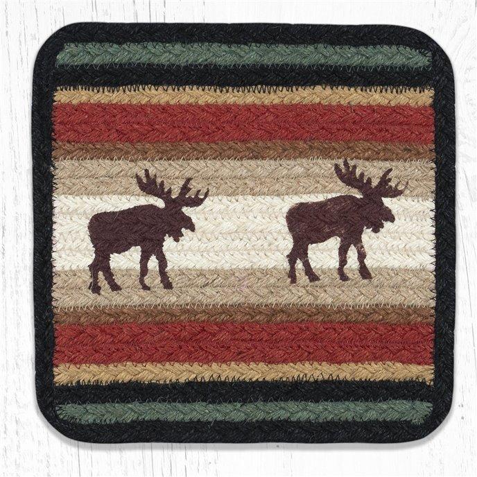 "Moose Square Printed Braided Trivet 10""x10"" Thumbnail"