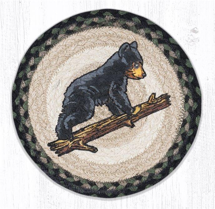 "Bear Cub Printed Round Braided Trivet 10""x10"" Thumbnail"
