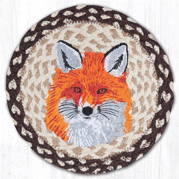 "Fox Printed Round Braided Trivet 10""x10"" Thumbnail"