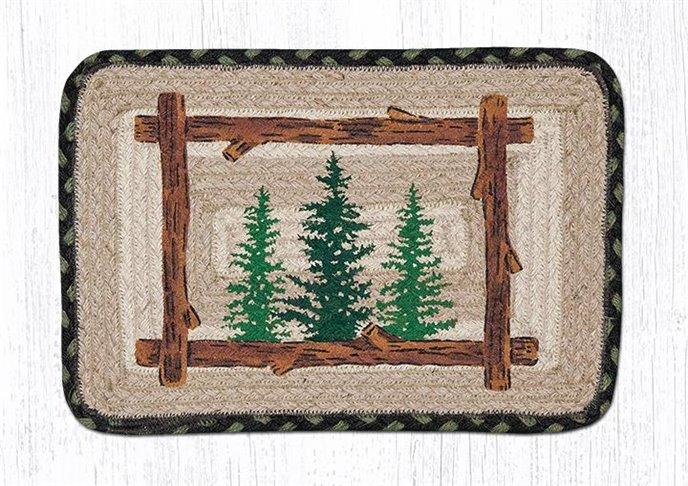"Tall Timbers Square Printed Braided Trivet 10""x10"" Thumbnail"