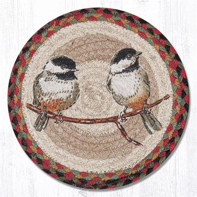 "Chickadee Printed Round Braided Trivet 10""x10"" Thumbnail"
