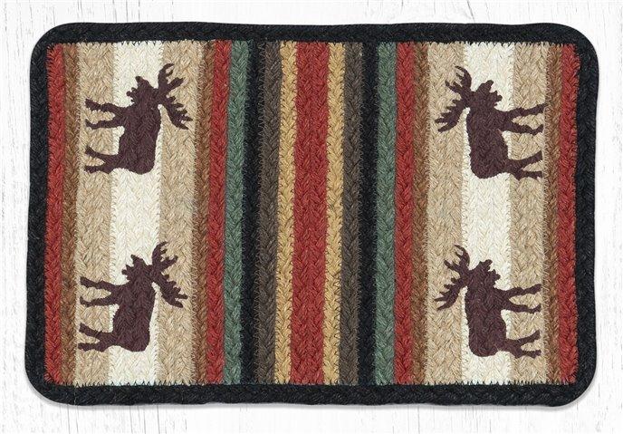 """Moose Rectangular Printed Braided Swatch 10""""x15"""" Thumbnail"""