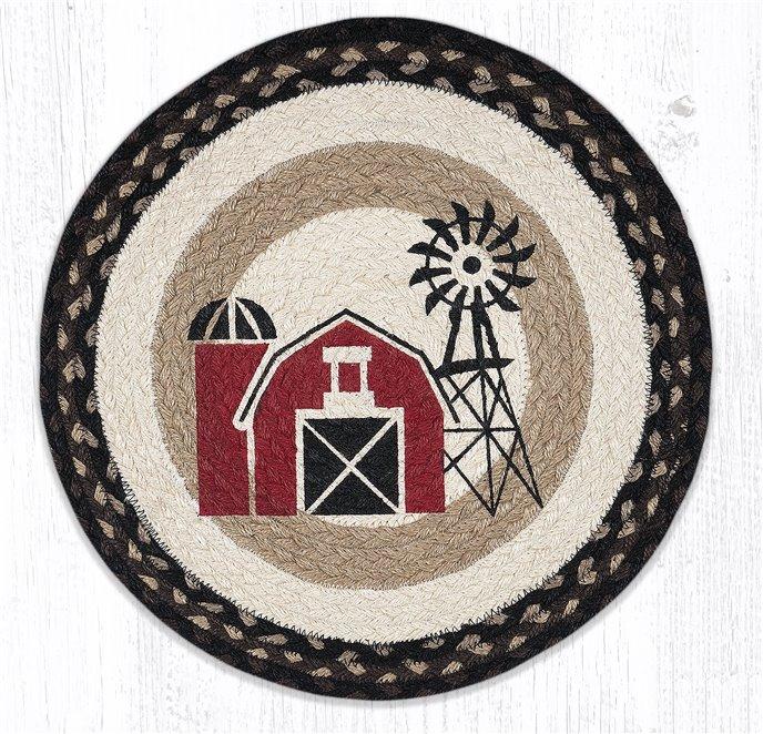 """Windmill Round Braided Chair Pad 15.5""""x15.5"""" Thumbnail"""
