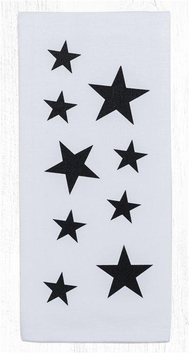 "Black Star Cotton Tea Towels 20""x28"" Thumbnail"